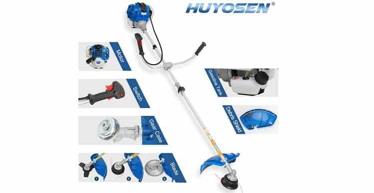 HUYOSEN 38.9cc Gas-Powered Brush Cutter