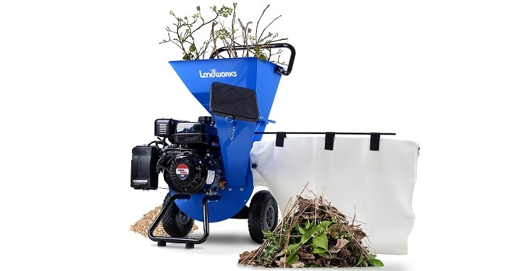 Landworks Wood Chipper Shredder Mulcher - Best Gas Mulcher